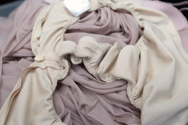 2000s Alaia Light Pink Greek Style Mini Dress For Sale 5