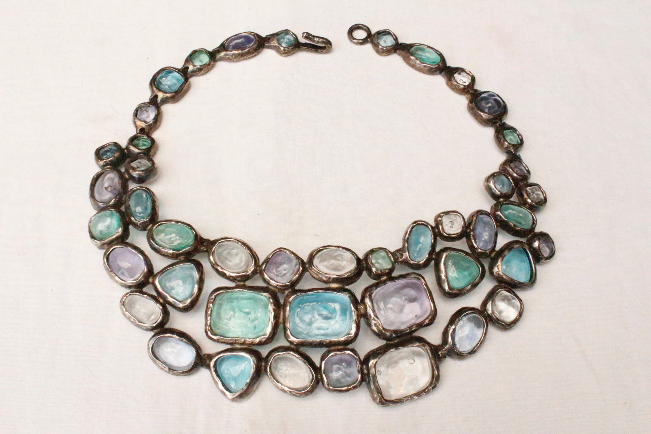 necklace breastplate moss agate crystal vaults