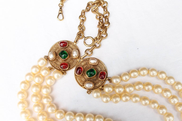 1984 Chanel long multi strand pearly necklace  5