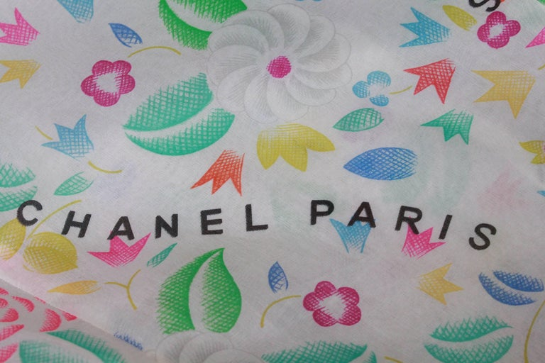 Chanel long dress in floral print silk, 1996  For Sale 4