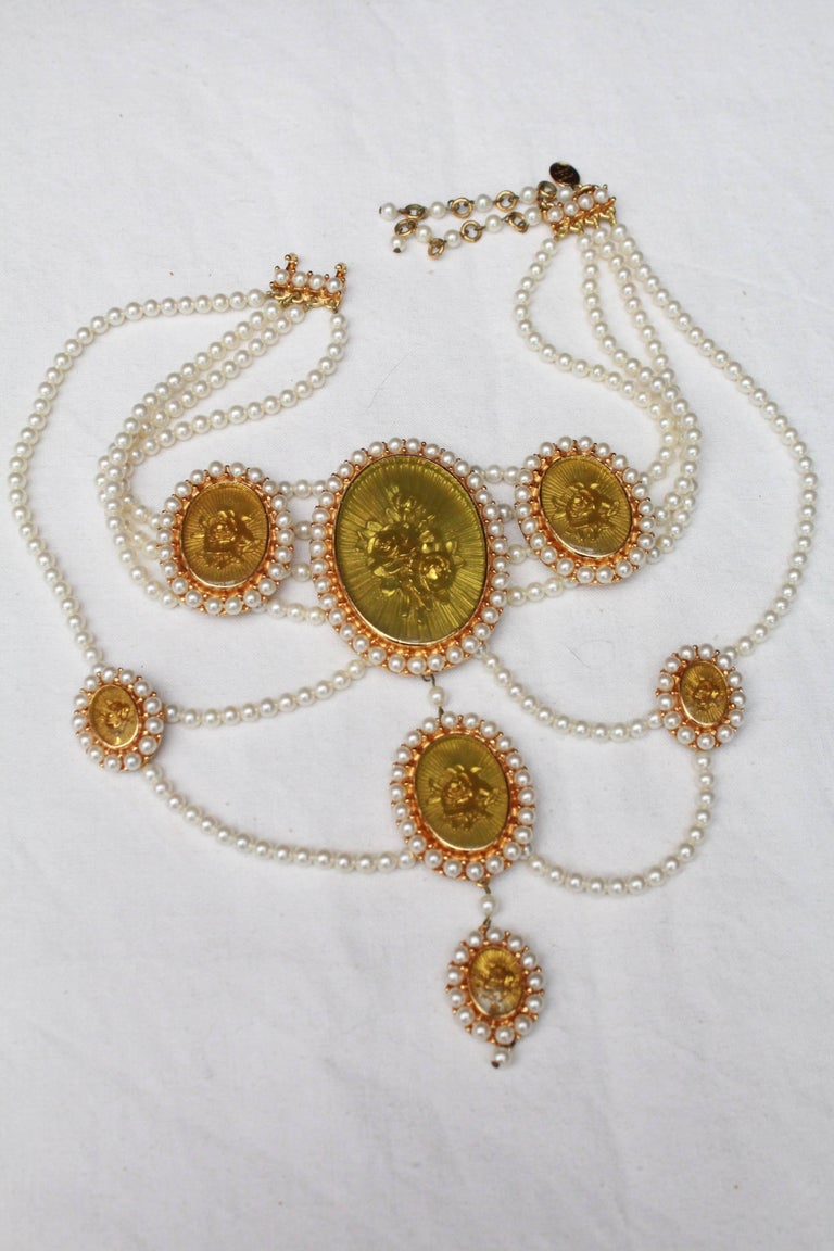 2000s Christian Dior Victorian Style Necklace At 1stdibs