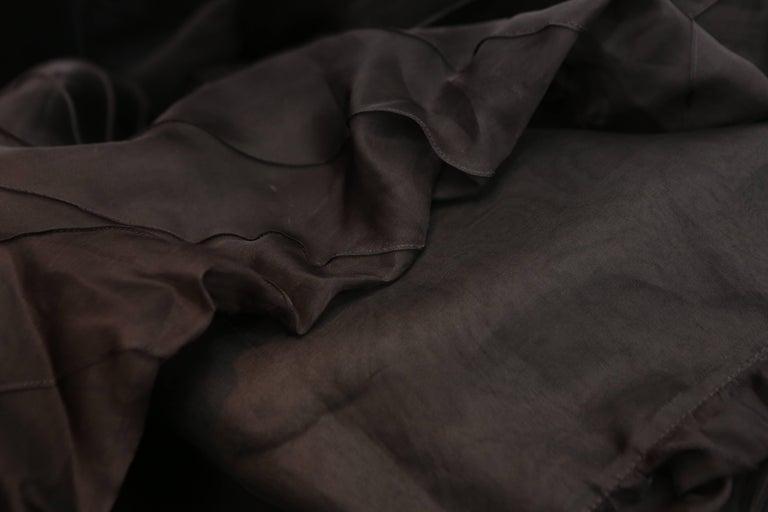 Chanel Long Black Silk Evening Gown Fall 1998  10