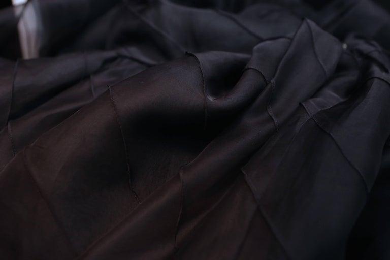 Chanel Long Black Silk Evening Gown Fall 1998  9