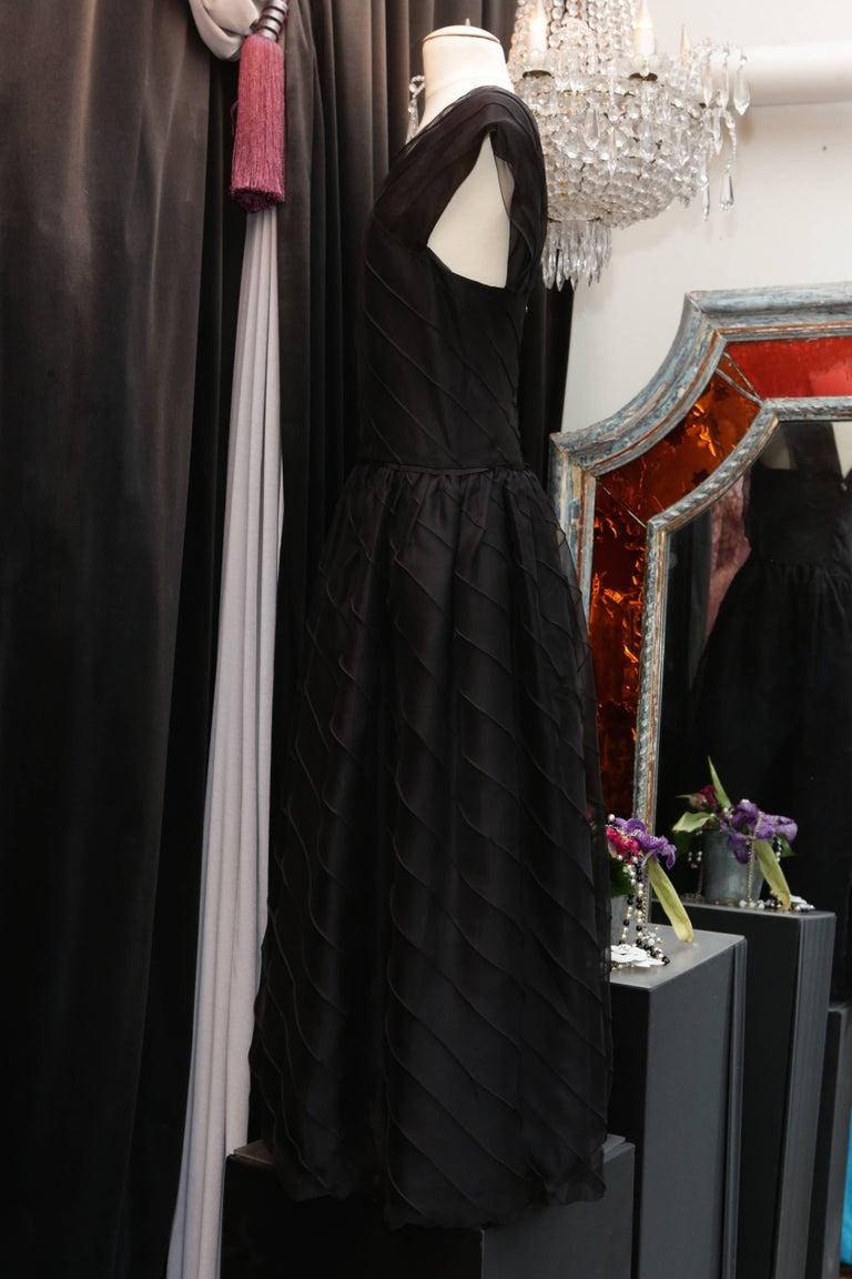 Chanel Long Black Silk Evening Gown Fall 1998  3