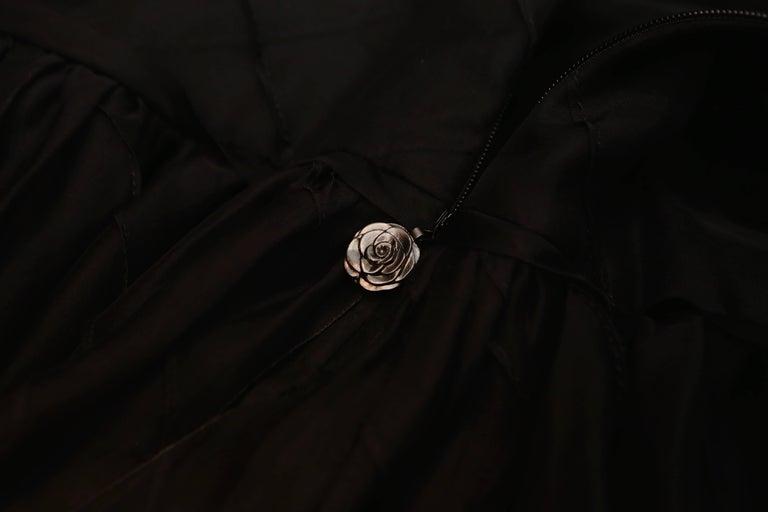 Chanel Long Black Silk Evening Gown Fall 1998  7
