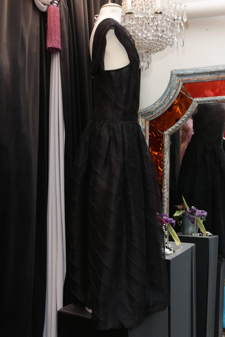 Chanel Long Black Silk Evening Gown Fall 1998  5