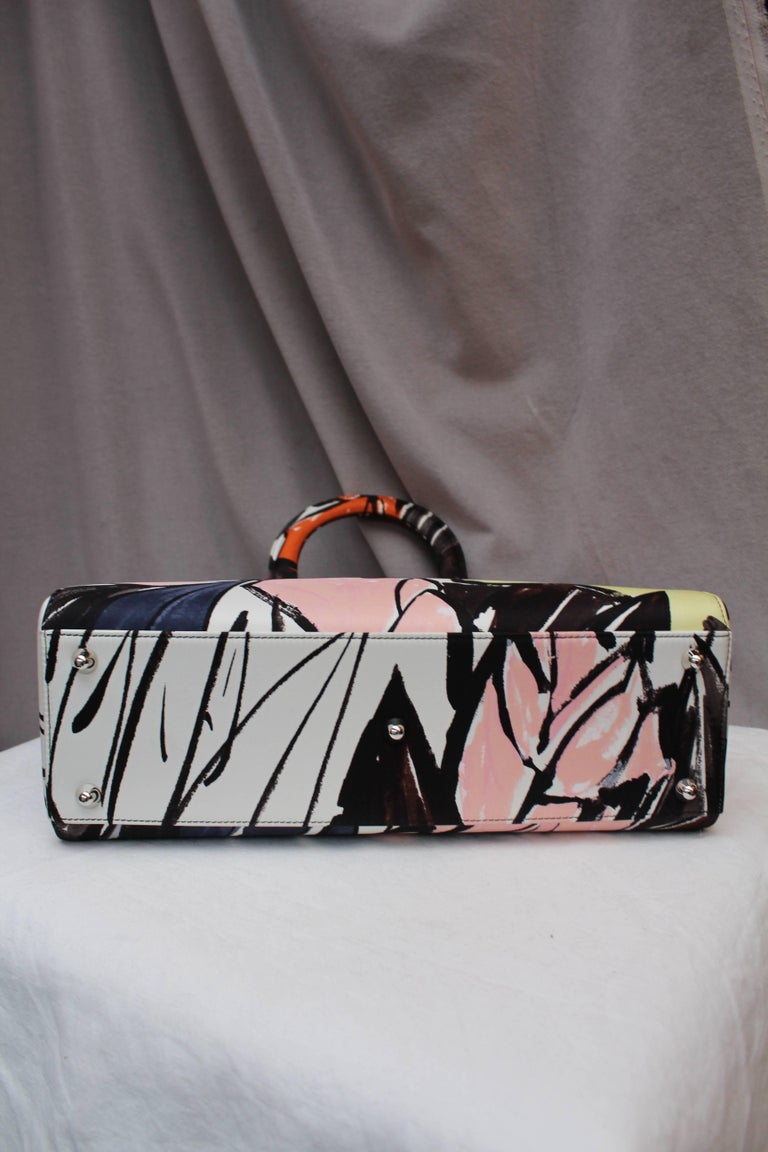 2015 Dior fabulous Lady Dior Floral Graffiti limited Edition by Raf Simons For Sale 1