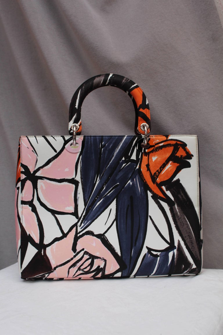 Women's 2015 Dior fabulous Lady Dior Floral Graffiti limited Edition by Raf Simons For Sale
