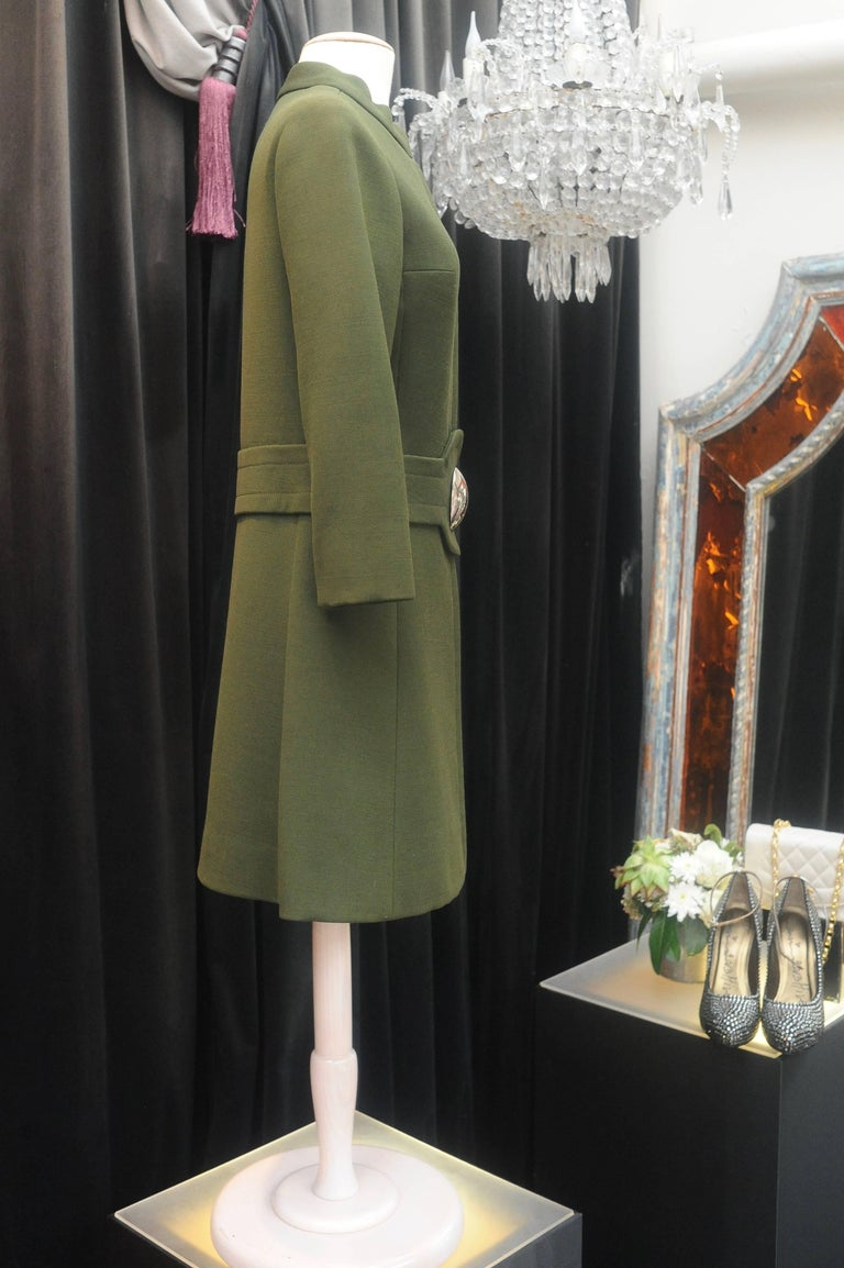 1960s Iconic Pierre Cardin khaki green coat 5