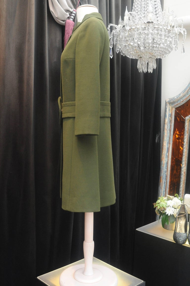 1960s Iconic Pierre Cardin khaki green coat 3
