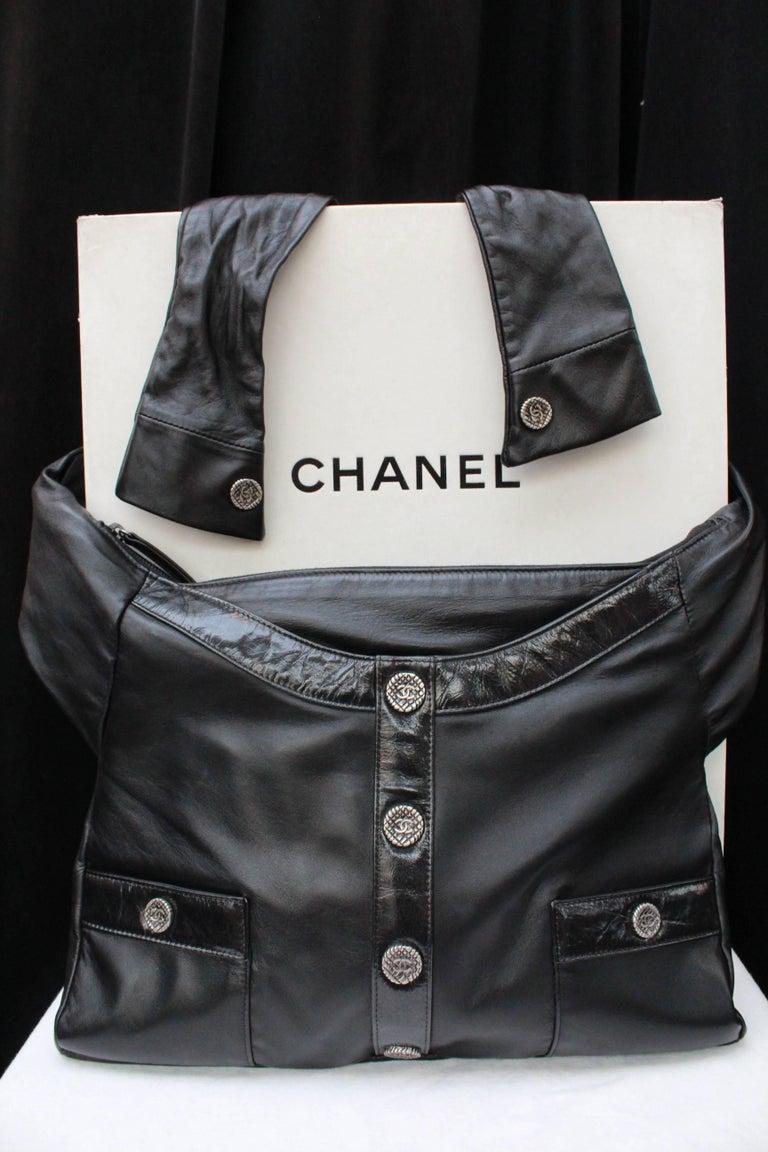 "Black Chanel ""Girl"" black lambskin bag, Circa 2015  For Sale"