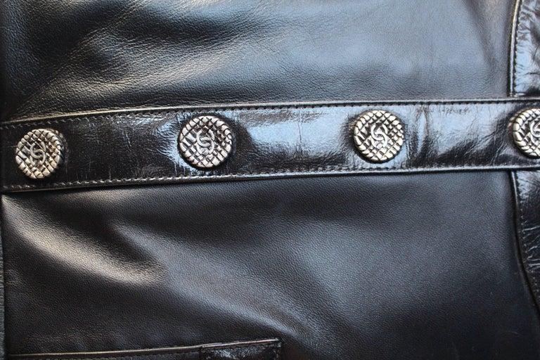 "Chanel ""Girl"" black lambskin bag, Circa 2015  For Sale 1"