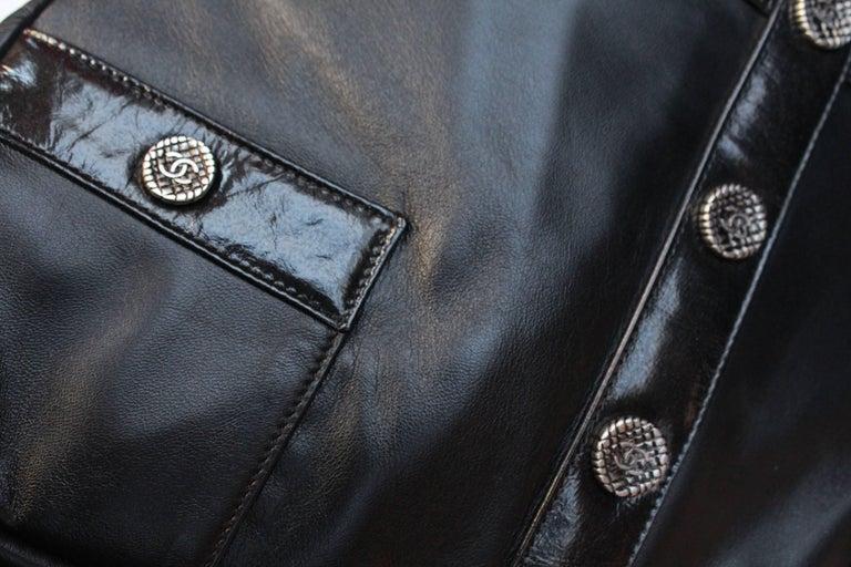 "Women's Chanel ""Girl"" black lambskin bag, Circa 2015  For Sale"