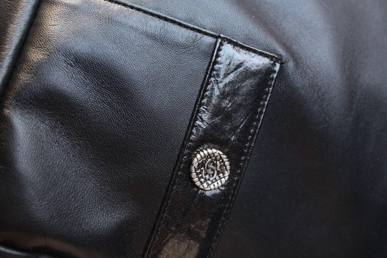 "Chanel ""Girl"" black lambskin bag, Circa 2015  For Sale 2"