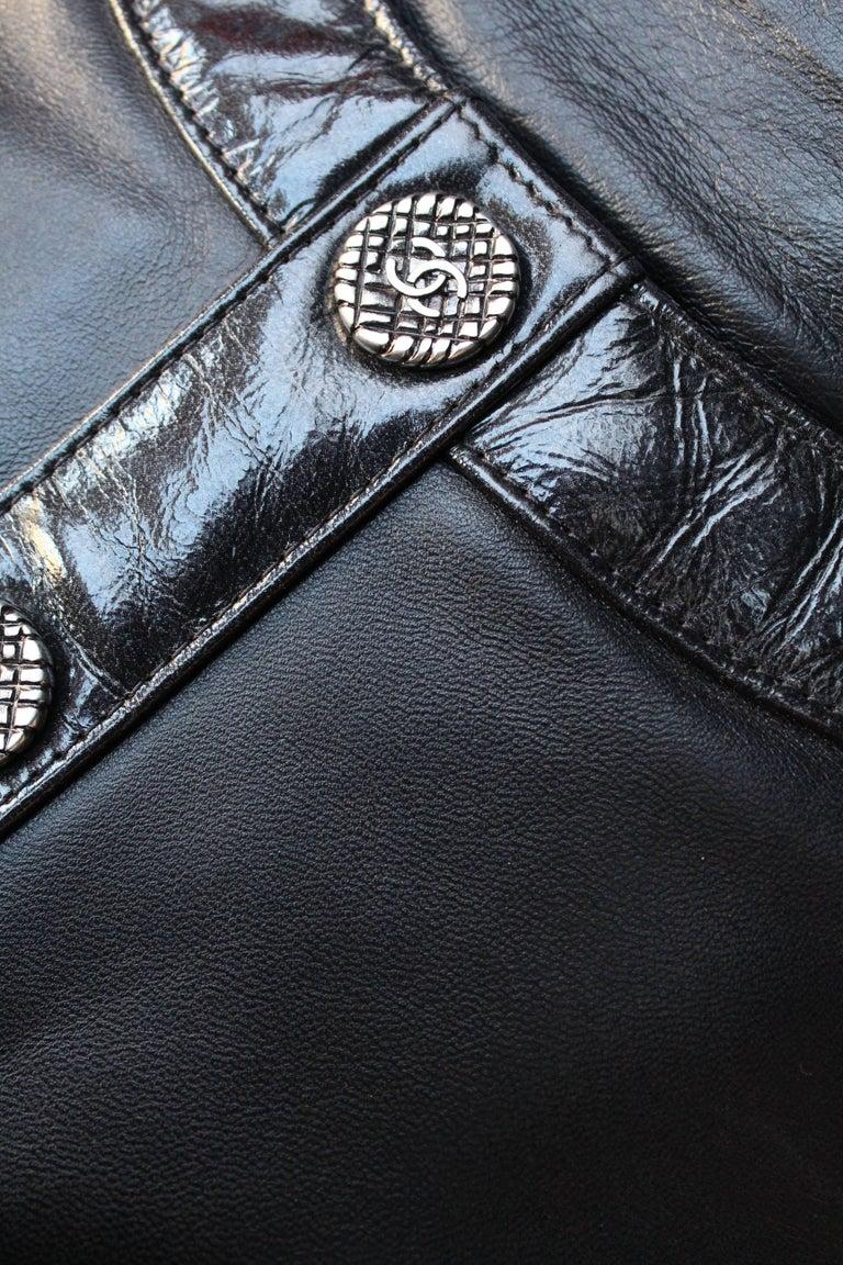"Chanel ""Girl"" black lambskin bag, Circa 2015  For Sale 3"