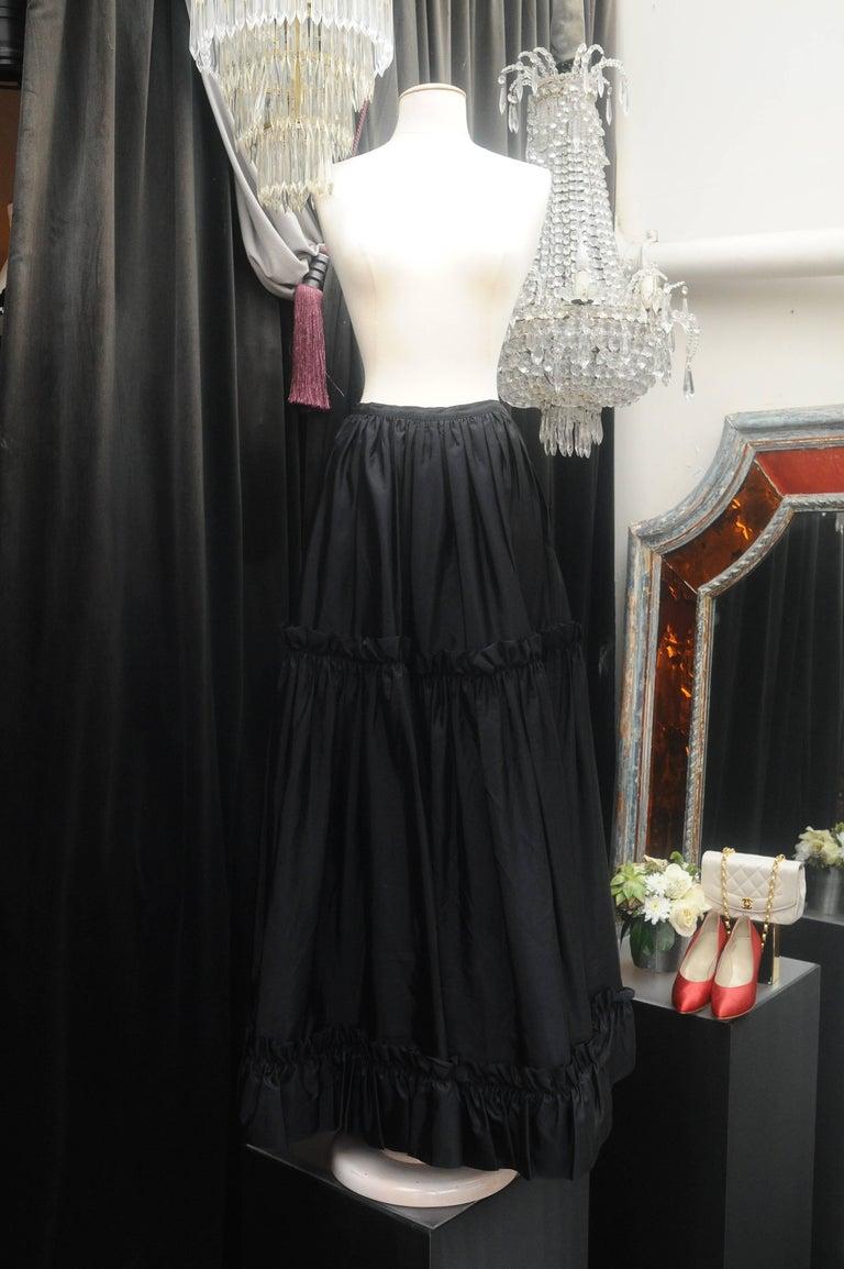Women's Yves Saint Laurent Rive Gauche red and black skirt set For Sale