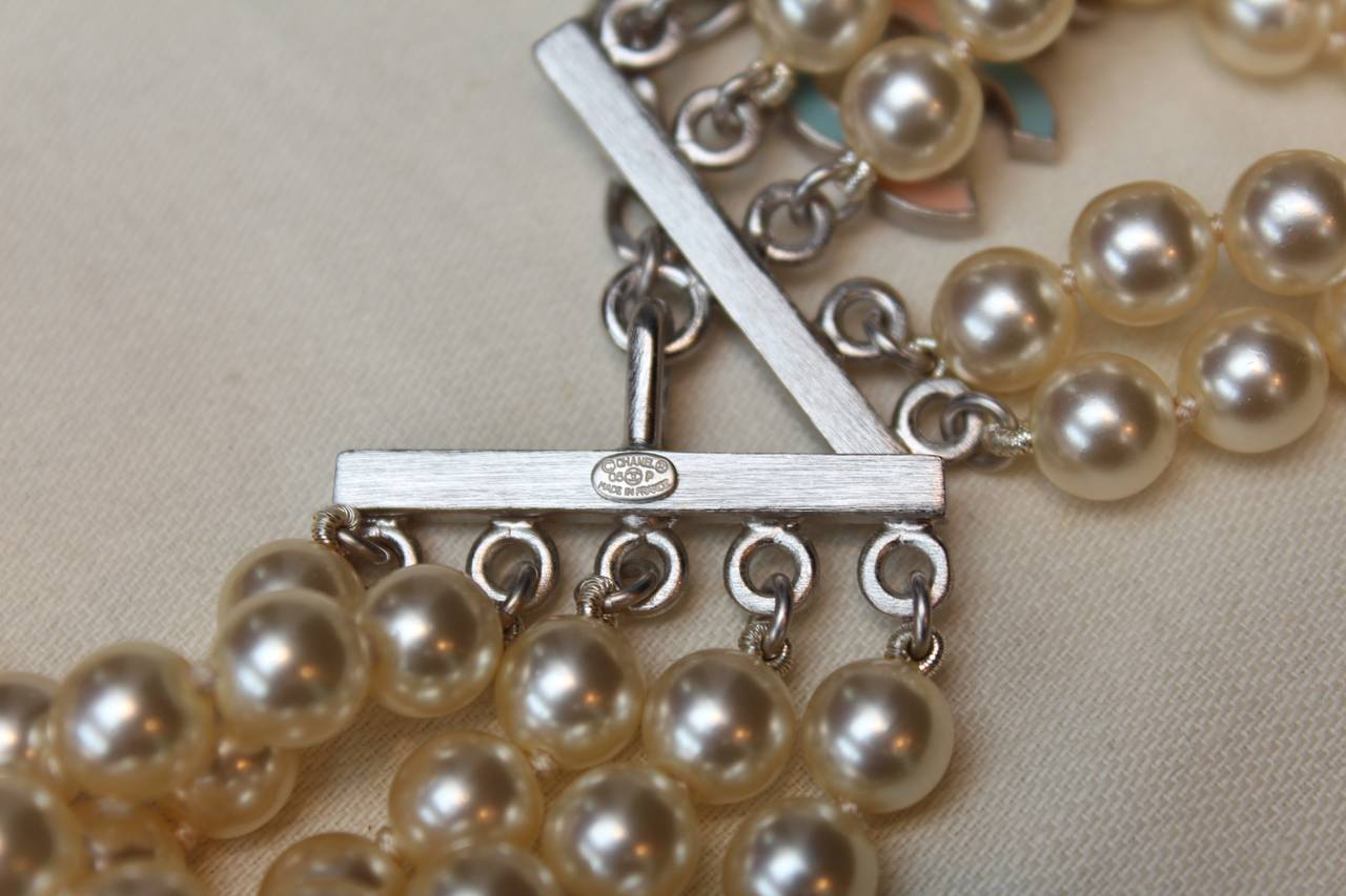 Chanel Multi Rows Faux Pearls Necklace, circa 2005 3