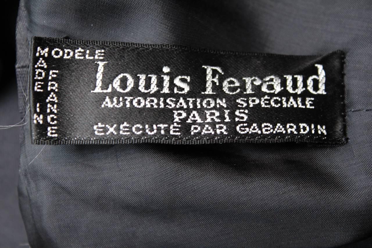 Louis Feraud Black Dress, circa 1960s For Sale 5