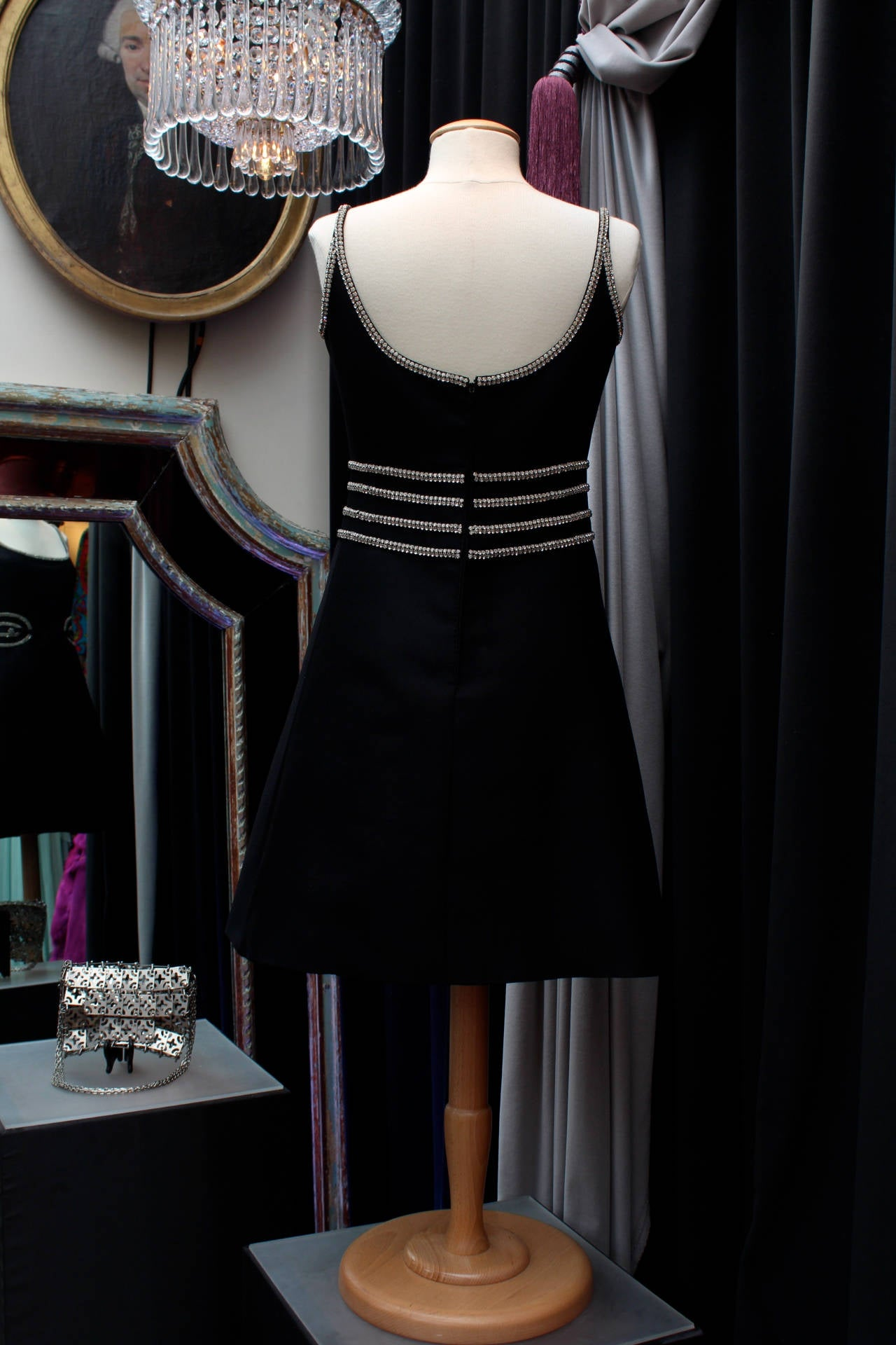 Louis Feraud Black Dress, circa 1960s In Good Condition For Sale In Paris, FR