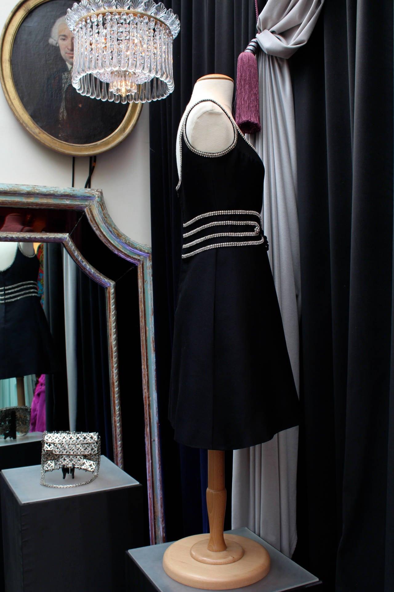 Women's Louis Feraud Black Dress, circa 1960s For Sale