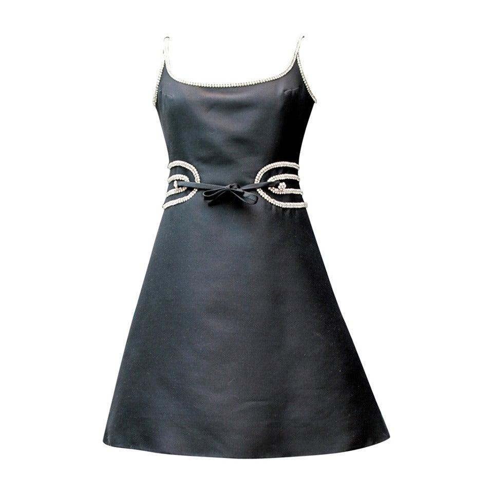 Louis Feraud Black Dress, circa 1960s For Sale