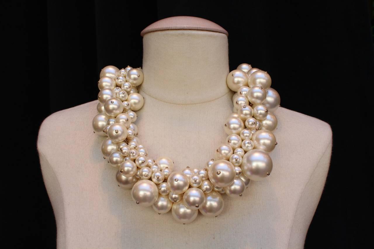 Faux Pearls Chanel Necklace, Circa 2013 3