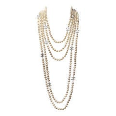 Chanel Multi Rows Faux Pearls Necklace, circa 2005