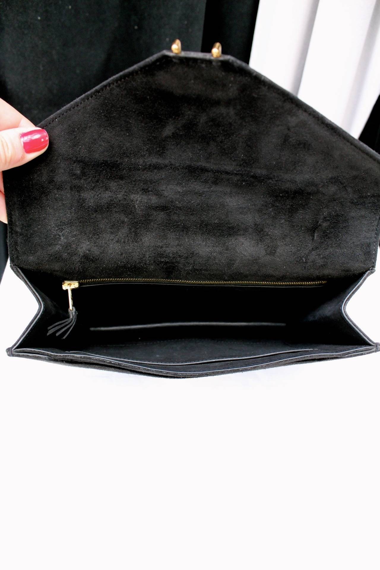 fake birkin hermes - Hermes Black Suede Clutch at 1stdibs