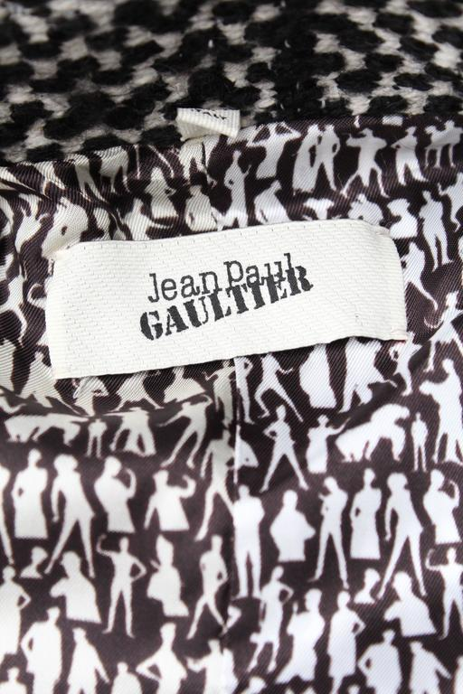 Fall 2013 Jean Paul Gaultier Black and White Coat For Sale 5