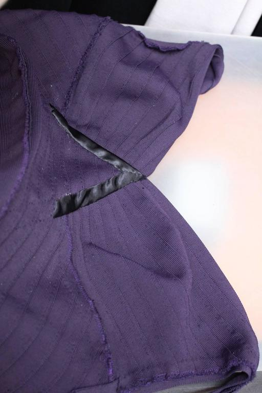 1990s Herve Leger Couture Purple Evening Gown 8