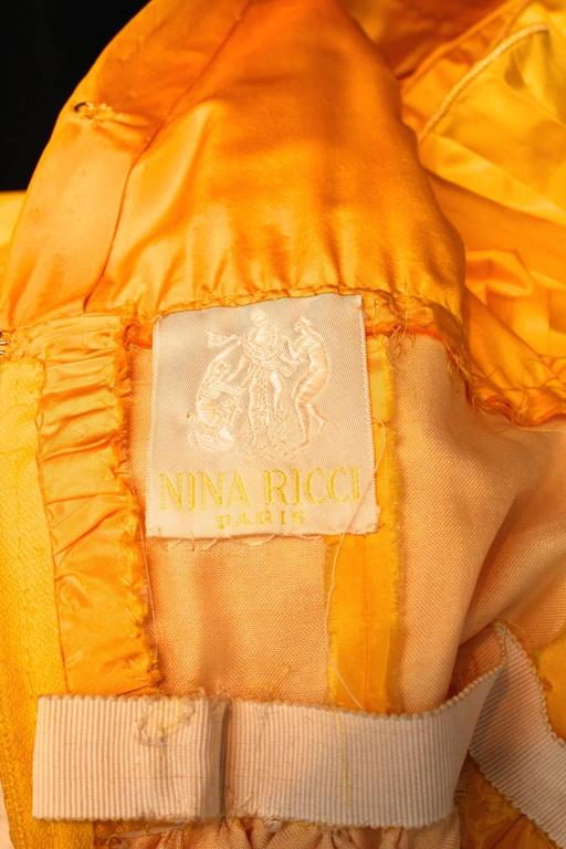 1975s Nina Ricci Haute Couture Yellow Taffetas Evening Dress 8