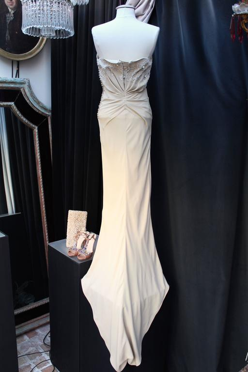 Spring 2008 Christian Dior Evening Gown in Ivory Silk 2