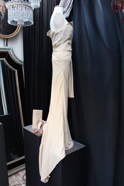 Spring 2008 Christian Dior Evening Gown in Ivory Silk 3