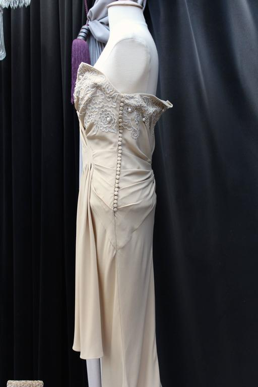Spring 2008 Christian Dior Evening Gown in Ivory Silk 4