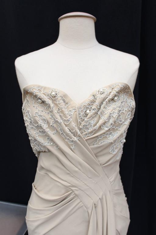 Spring 2008 Christian Dior Evening Gown in Ivory Silk 5