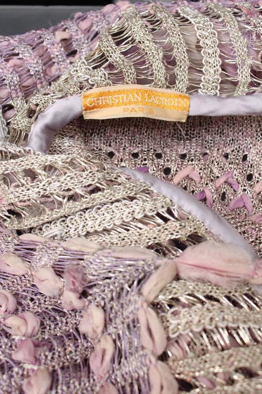 Women's Summer 1996 Christian Lacroix Haute Couture Parma Crochet Dress For Sale