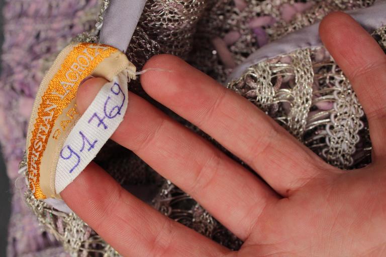 Summer 1996 Christian Lacroix Haute Couture Parma Crochet Dress For Sale 1