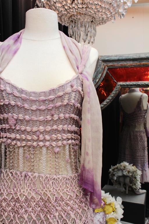 Summer 1996 Christian Lacroix Haute Couture Parma Crochet Dress For Sale 2