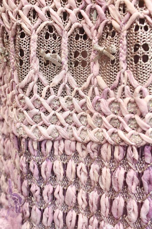 Summer 1996 Christian Lacroix Haute Couture Parma Crochet Dress For Sale 4