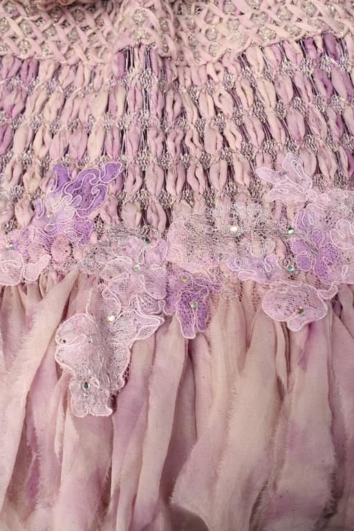 Summer 1996 Christian Lacroix Haute Couture Parma Crochet Dress For Sale 3
