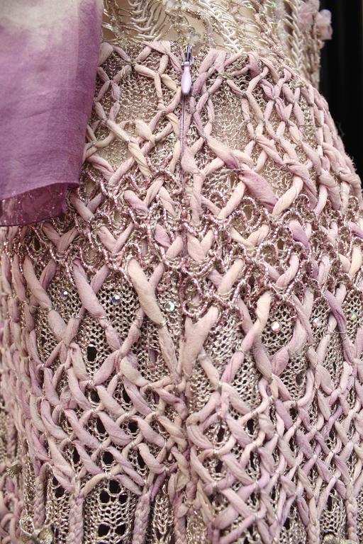Summer 1996 Christian Lacroix Haute Couture Parma Crochet Dress For Sale 5