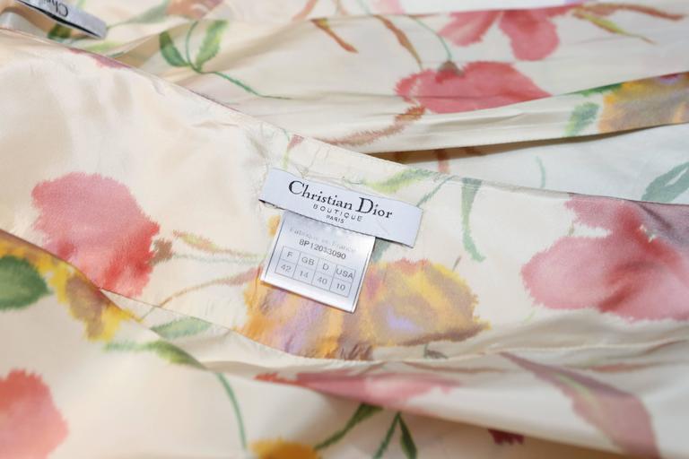 2008 Christian Dior Dress Ensemble in Floral Print 10