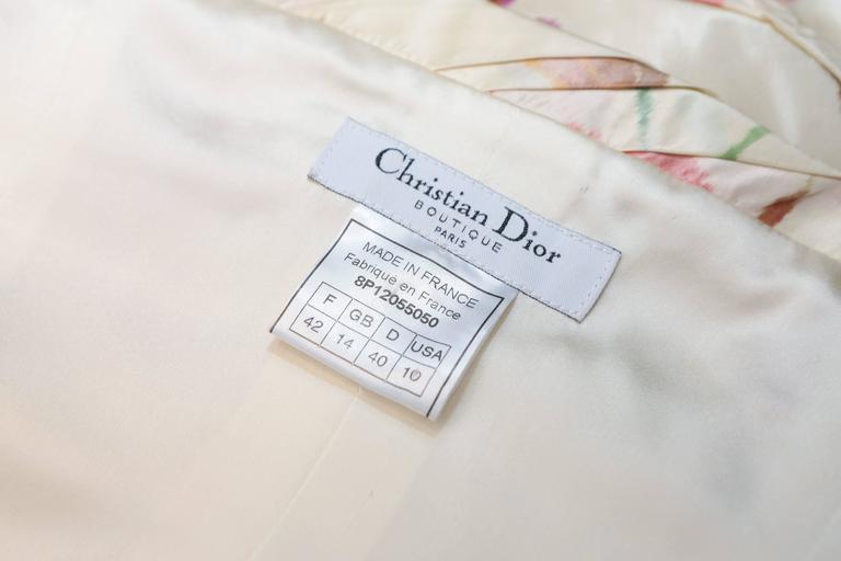 2008 Christian Dior Dress Ensemble in Floral Print 7