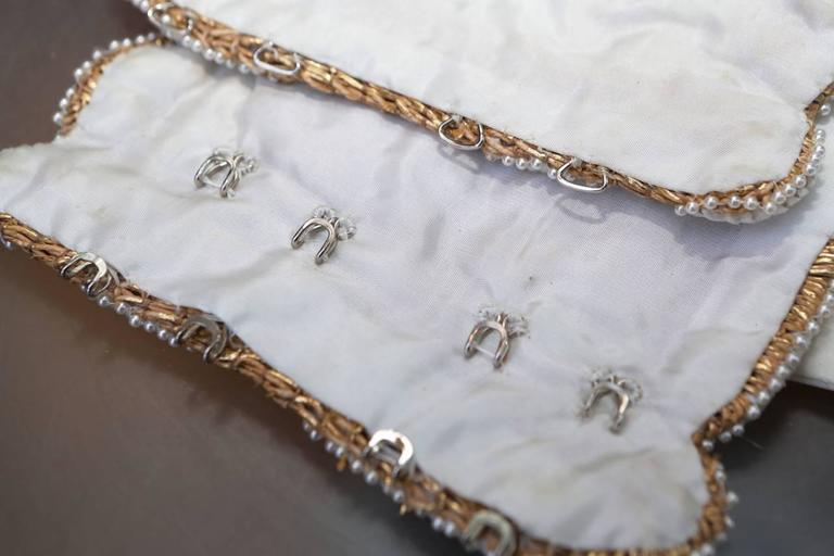 Early 1990s Christian Dior Waistband with Gilt and White Embroideries 7