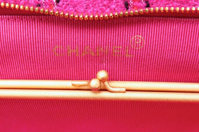 1990s Chanel Pink Tweed Bag and Matching Scarf 9