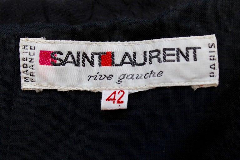 Saint Laurent Rive Gauche stunning black and fuchsia dress For Sale 1