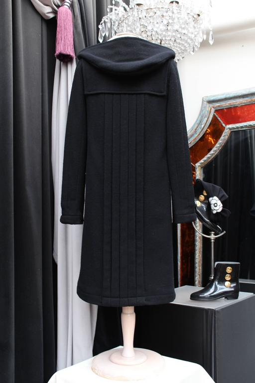 2006 Chanel Black and White Duffle Coat 4