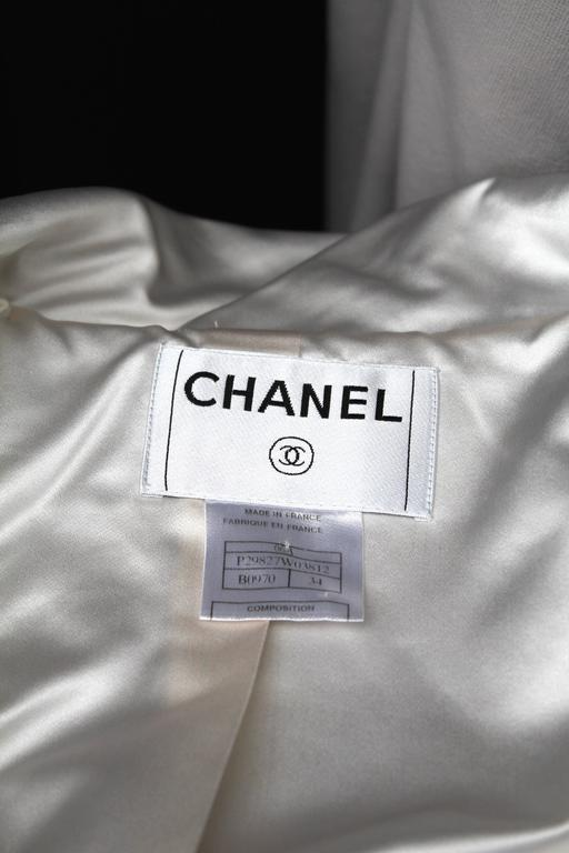 Chanel Black and White Duffle Coat, 2006 For Sale 4