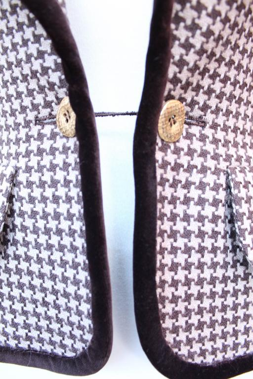 Fall 2004 Jean-Louis Scherrer Houndstooth Dress and Jacket Ensemble For Sale 5