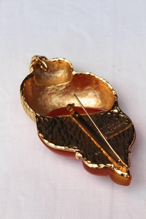 1987 Christian Dior Rare Shell Brooch by Robert Goossens 5